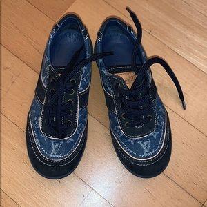 Louis Vuitton Kids denim sneakers sz 27
